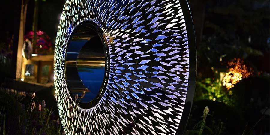 Large Garden Sculpture Iris Torus