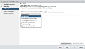 Configure disk redundancy VMware VSAN