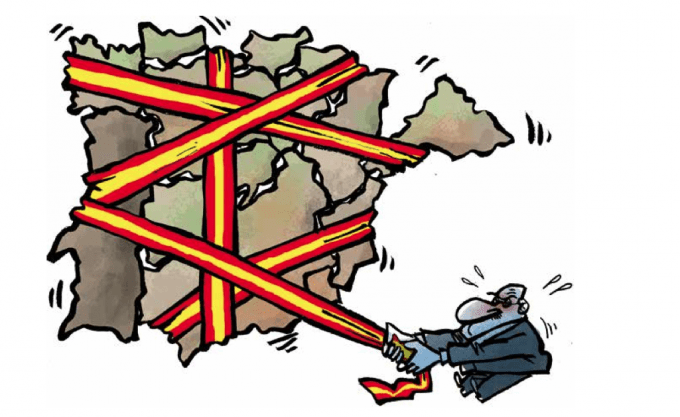 Image result for catalan independence cartoon