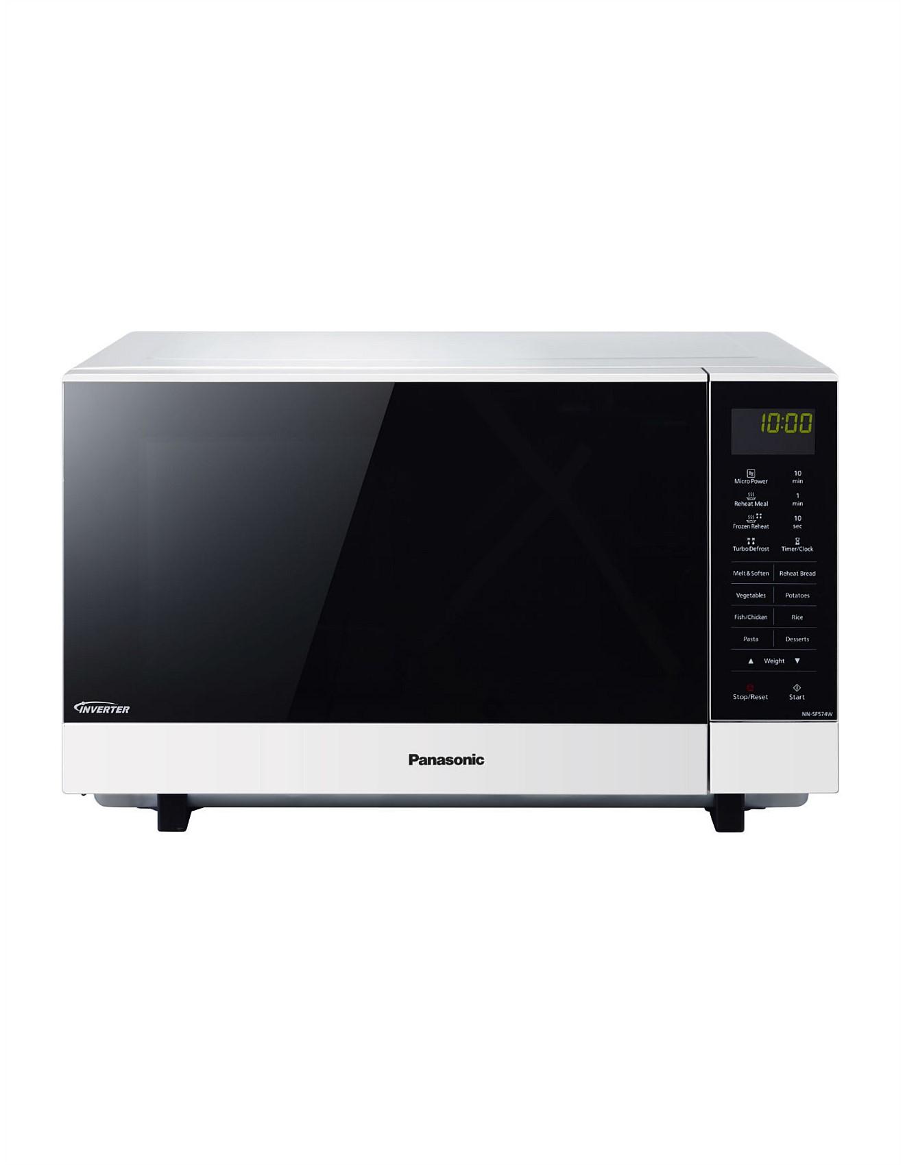 Microwaves | Buy Microwave Ovens Online | David Jones - NNSF564WQPQ 27L Solo Flatbed Microwave Oven