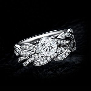 JewelryPalace Infinity 1.5ct Simulated Diamond Anniversary Promise Wedding Band Engagement Ring Bridal Sets 925 Sterling Silver Image 2