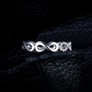 JewelryPalace Infinity Forever Love Anniversary Promise Ring Pure 925 Sterling Silver Jewelry For Women Gift Image 4