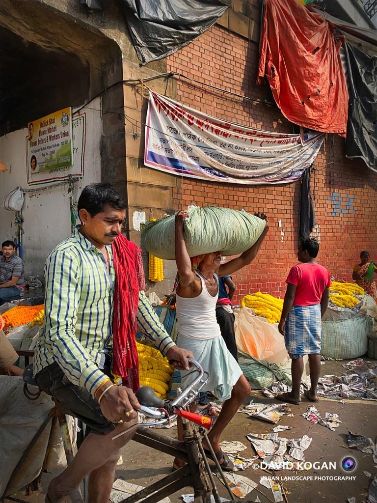 Outside Kolkata Flower Market