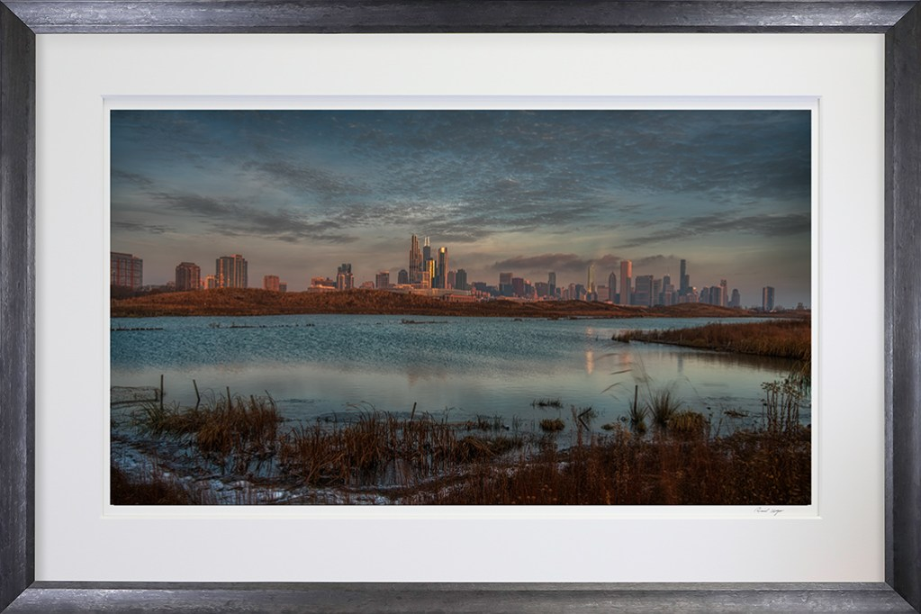 Framed-Chicago Skyline from Northerly Island
