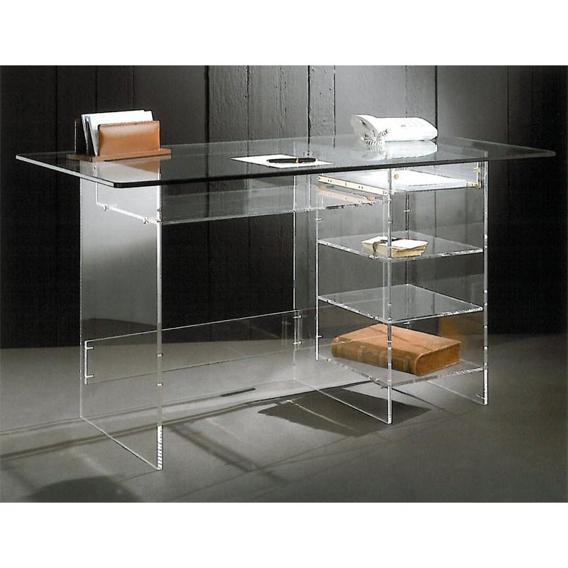 meuble informatique transparents