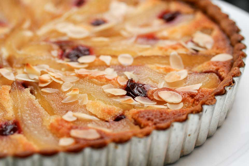 French Pear and Almond Tart Recipe