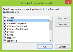 Outlook 2013 Blocked Encodings List