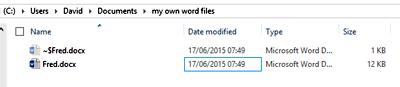 File Listing including Tilde