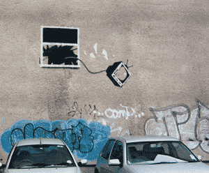 Defenestration - Banksy