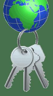 Globe and Keys
