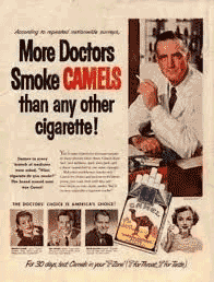 Camel Cigarettes advert