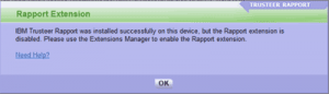 Rapport Chrome Error Message