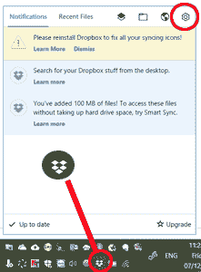 Dropbox - icon and settings