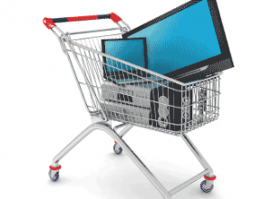 Shopping trolley with computer