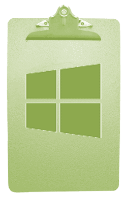 Clipboard And Windows Logo
