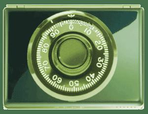 Combinatin lock superimposed on a laptop