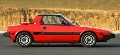 Red Fiat X1.9 sports car