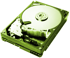 Hard disc with cover removed