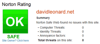 Norton Safe Web Result