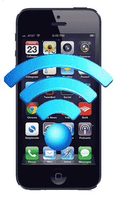 iPhone with wi-fi icon