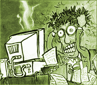 Cartoon of computer frustration