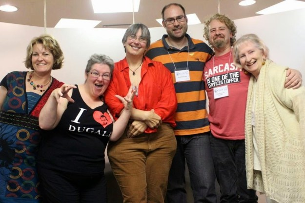 From left to right: Cat Sparks, Nichole Murphy, Laura E. Goodin, David McDonald, Stephen Ormsby and Satima Flavell