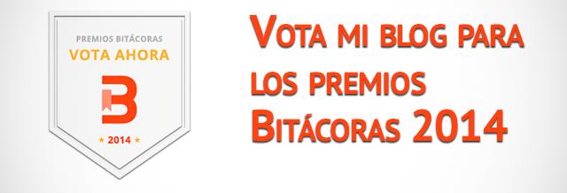 Vota mi blog en la categoría de Marketing de los premios Bitácoras