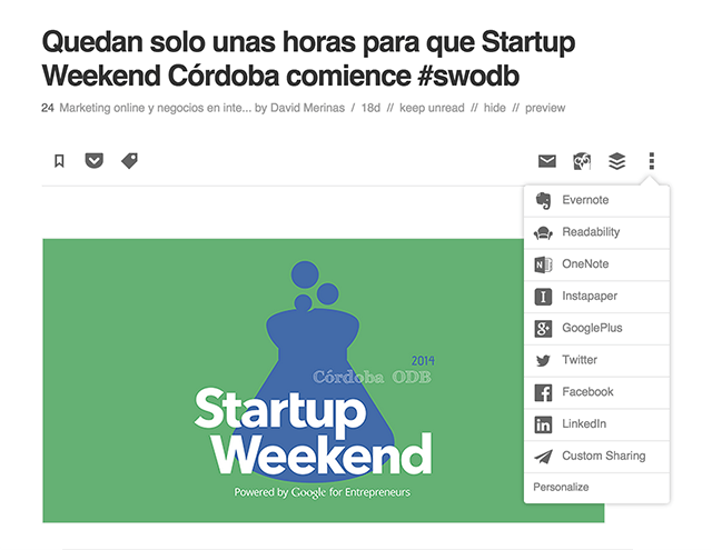 Compartir con Feedly 2