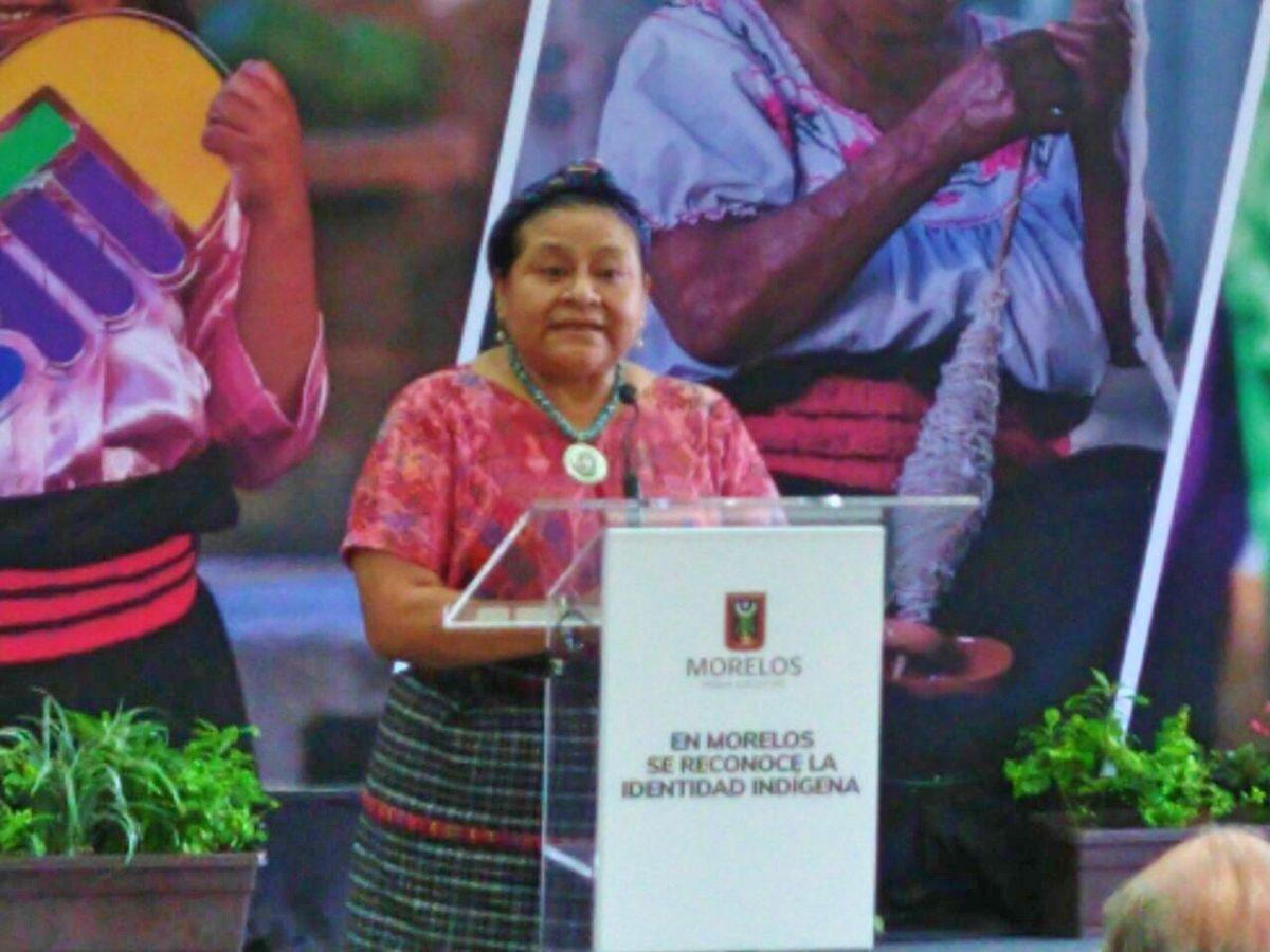 Rigoberta Menchú celebra creación de municipios indígenas en Morelos