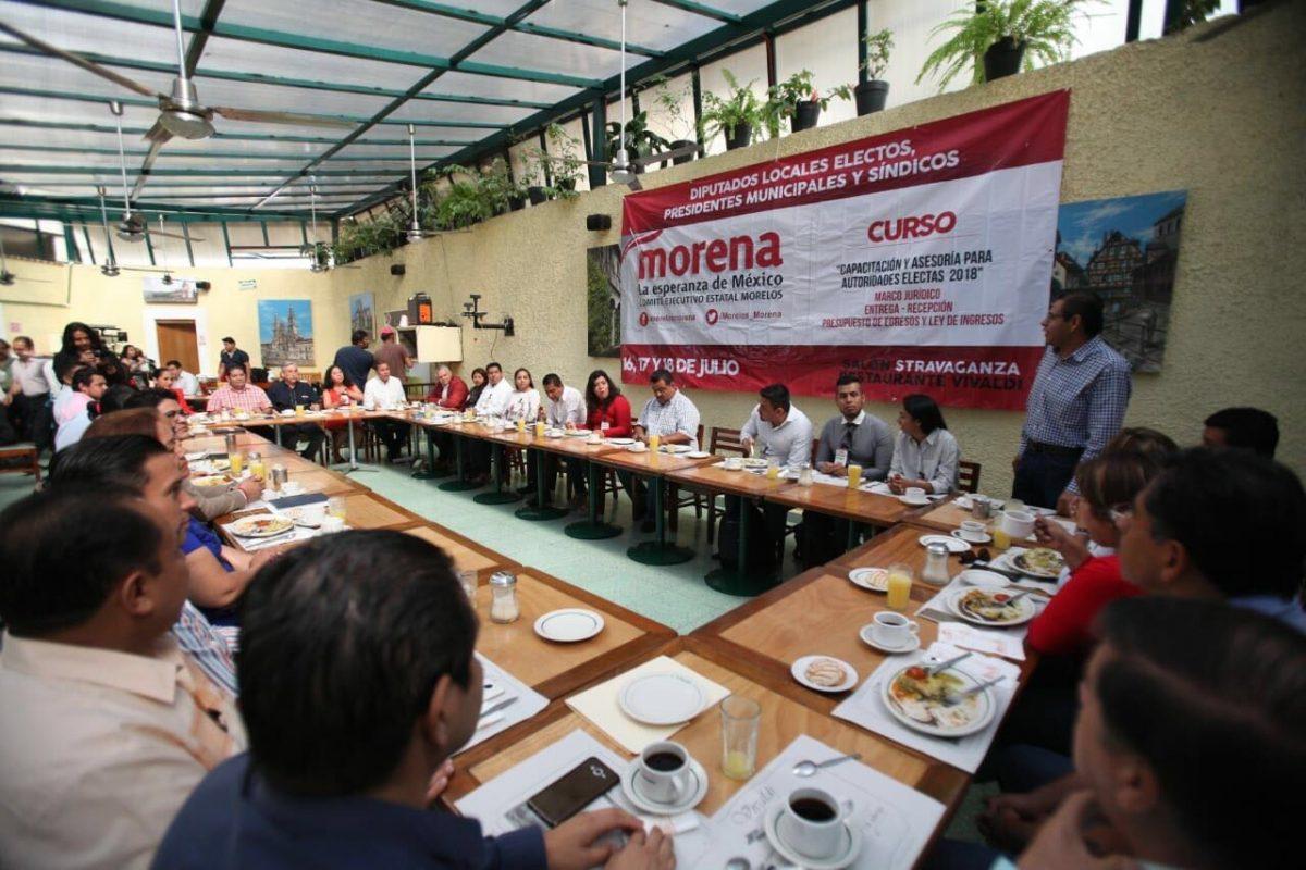 Inicia Morena capacitación de legisladores