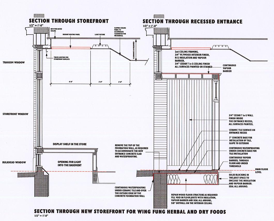 Hull Storefront Details — David Murray Architect