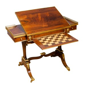 Fine Regency Rosewood and Bronze Mounted Writing-Games Table