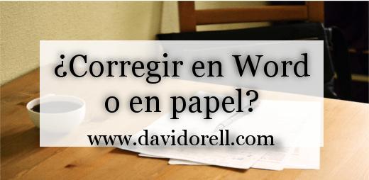 corregir en word o papel