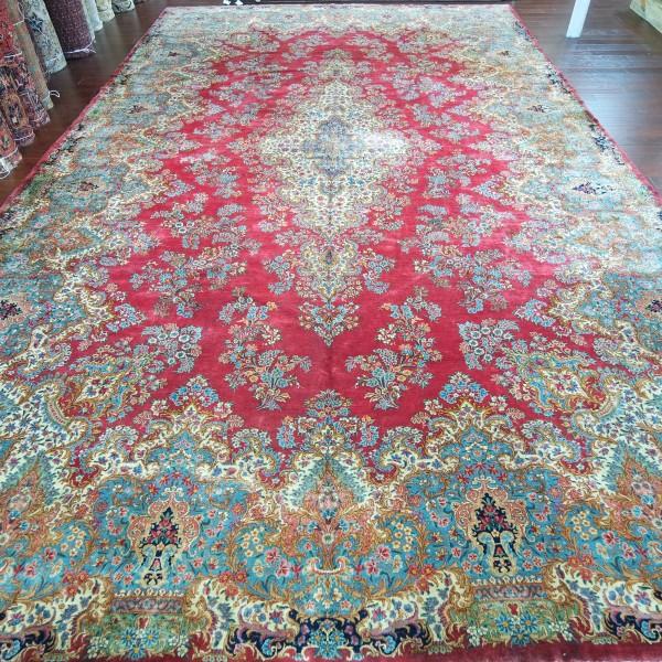 Oriental Rugs Houston: 14.3 X 24 Persian Kerman L5-9D
