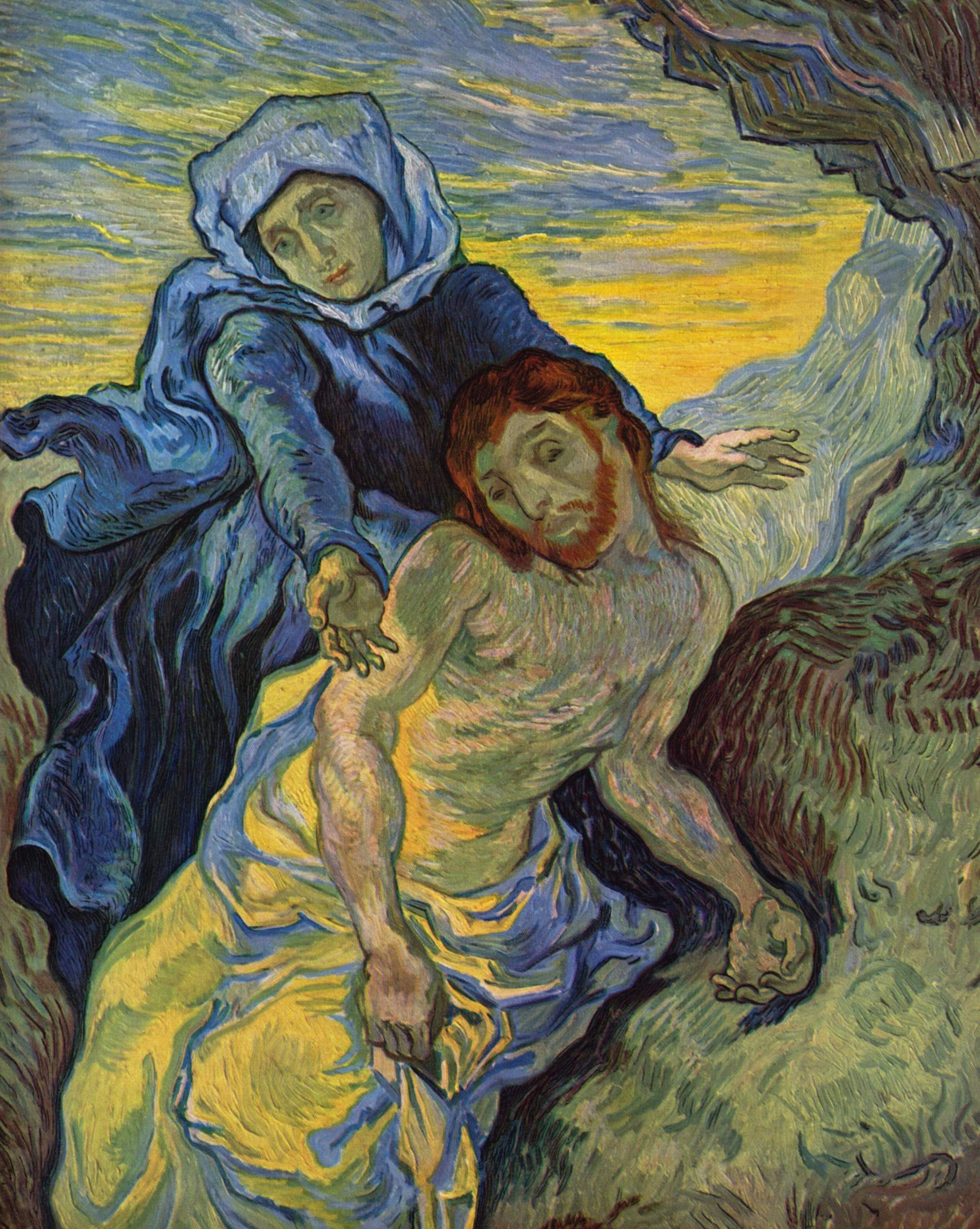 """""""Pieta"""" of Jesus and Mary Painted by Van Gogh in 1890"""