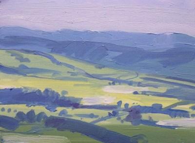 Landscape painting Lancashire