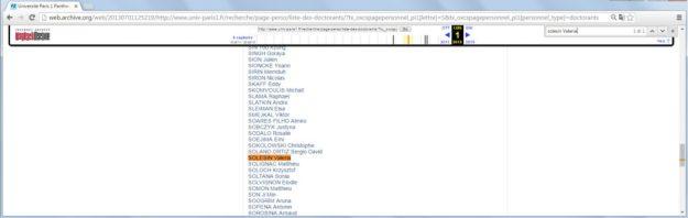 Il salvataggio dell'elenco dei dottorandi nel 1 luglio 2013, la Solesin c'era