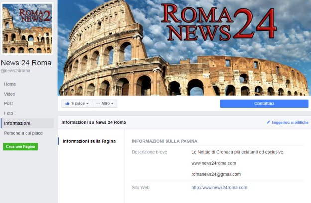 Le informazioni della pagina News24Roma