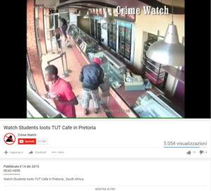 Screen del video pubblicato
