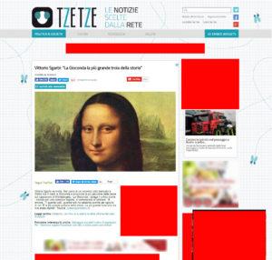 In rosso i banner pubblicitari