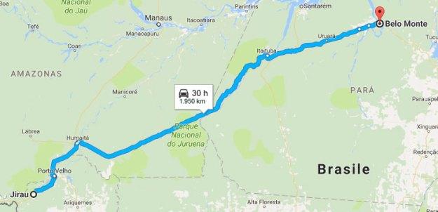La distanza tra i due luoghi associati al ritrovamento del serpente