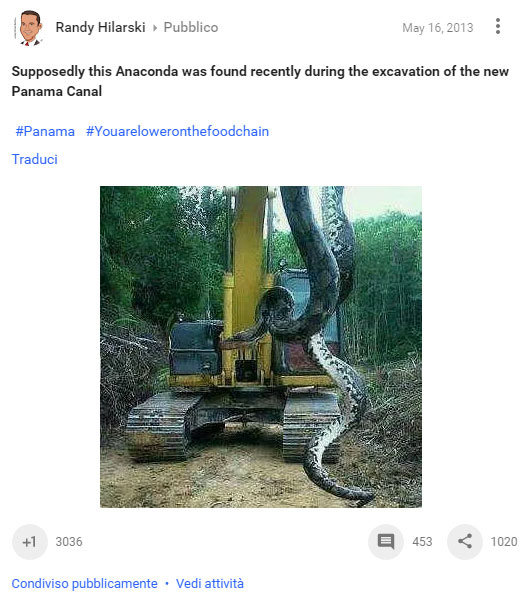 """Supposedly this Anaconda was found recently during the excavation of the new Panama Canal"""