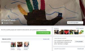 Il gruppo Facebook creato da Amanda