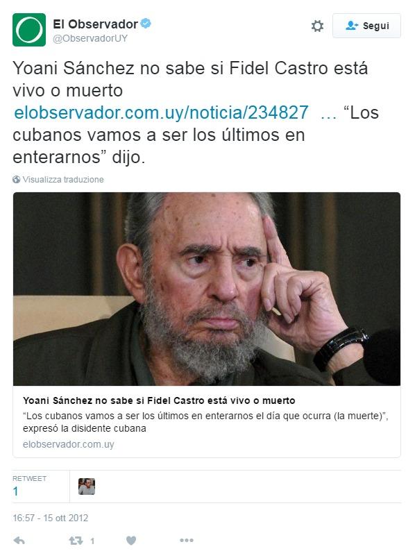 """""""Yoani Sánchez non sa se"""