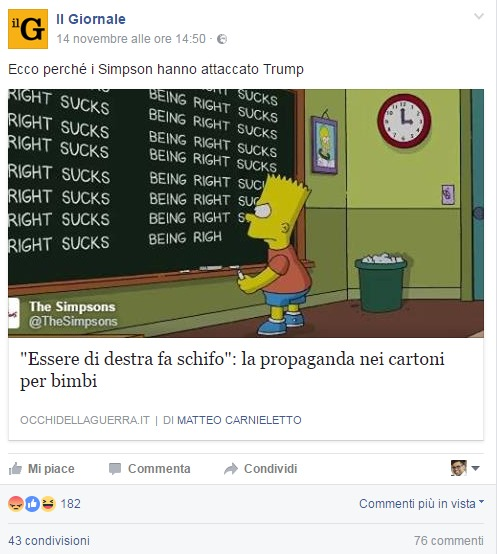 "Lo screen dei Simpsons con la frase ""incriminata"""