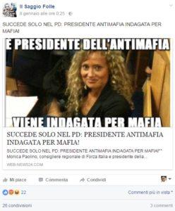 """La condivisione della pagina fB """"Il saggio folle"""""""