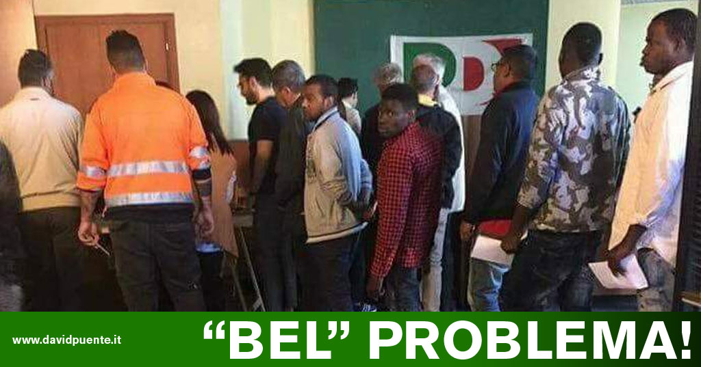 La foto dei migranti al voto durante le primarie del PD è ...