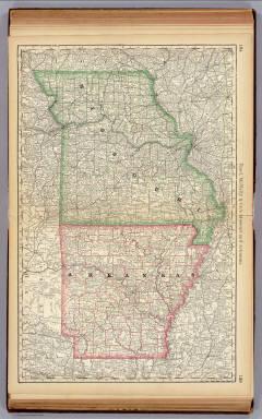 Missouri And Arkansas Rand McNally And Company 1879