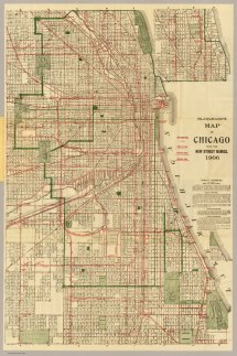 Chicago Map Historical