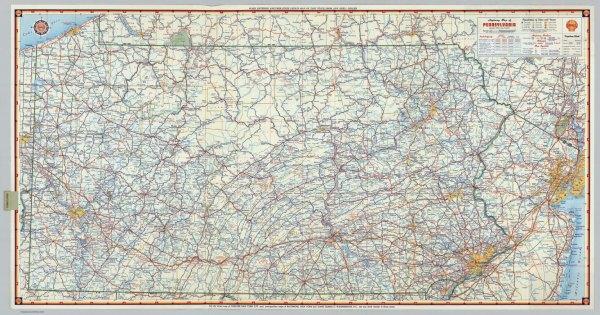 Pennsylvania Map Highway